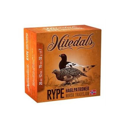 Nitedals rype cal. 12-70 32 g US7, 25 stk